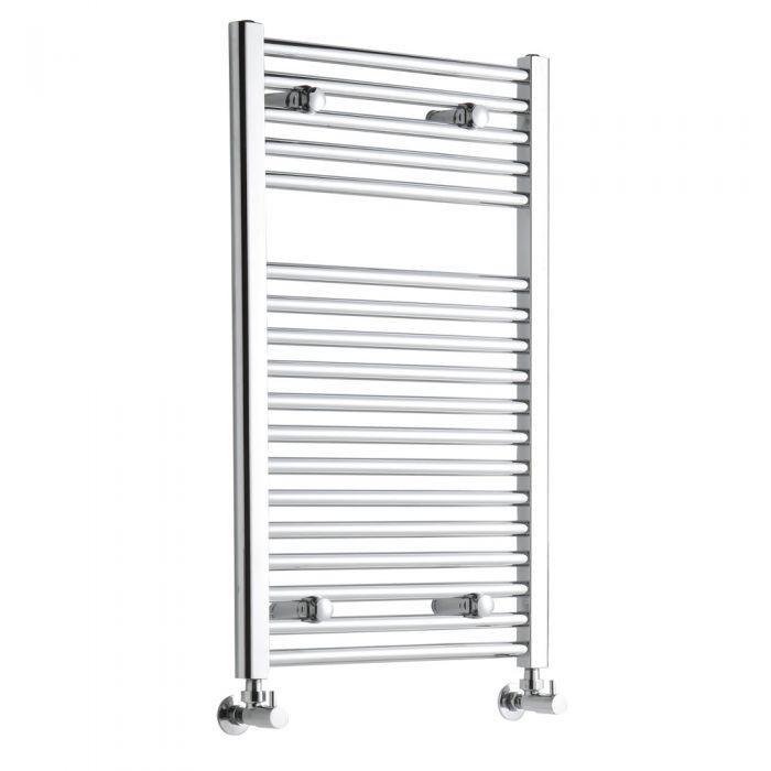 Sterling Premium Chrome Flat Heated Towel Rail Radiator 800mm x 500mm