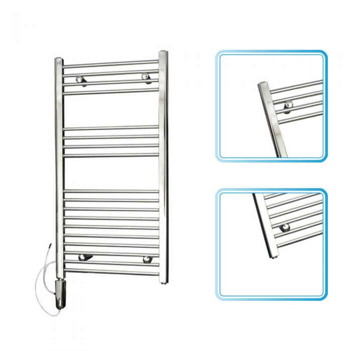 Kudox Chrome Flat Thermostatic Electric Towel Rail 1000mm x 500mm
