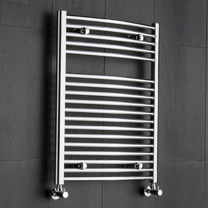 Sterling Premium Chrome Curved Heated Towel Rail 800mm x 600mm