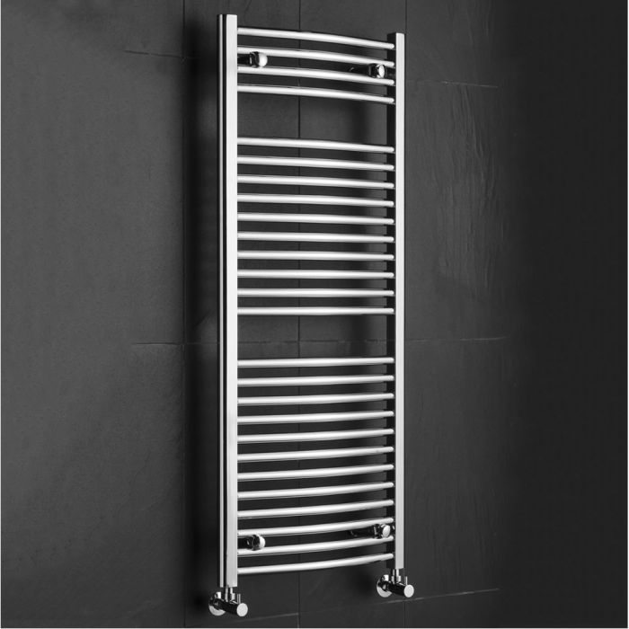 Sterling - Premium Chrome Curved Heated Towel Rail - 1200mm x 500mm