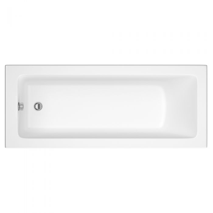 Milano Ice - 1600mm x 700mm Single Ended Standard Bath