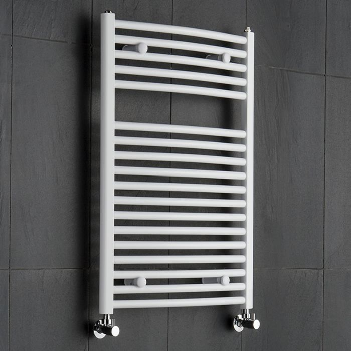 Sterling Premium White Curved Heated Towel Rail 800mm x 600mm
