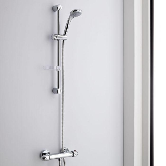 Milano Thermostatic Bar Mixer Shower Valve & Multifunction Kit