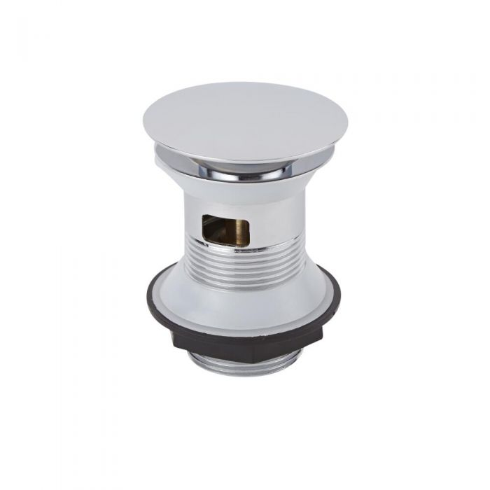 Milano - Chrome Slotted Push Button Basin Waste - 101mm x 67.8mm