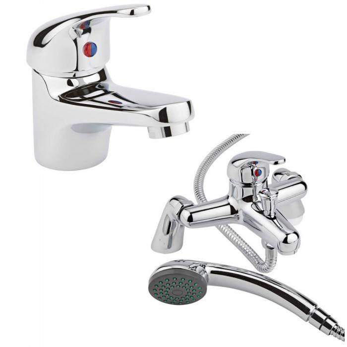 Milano Encore Basin & Shower Bath Mixer Tap Set