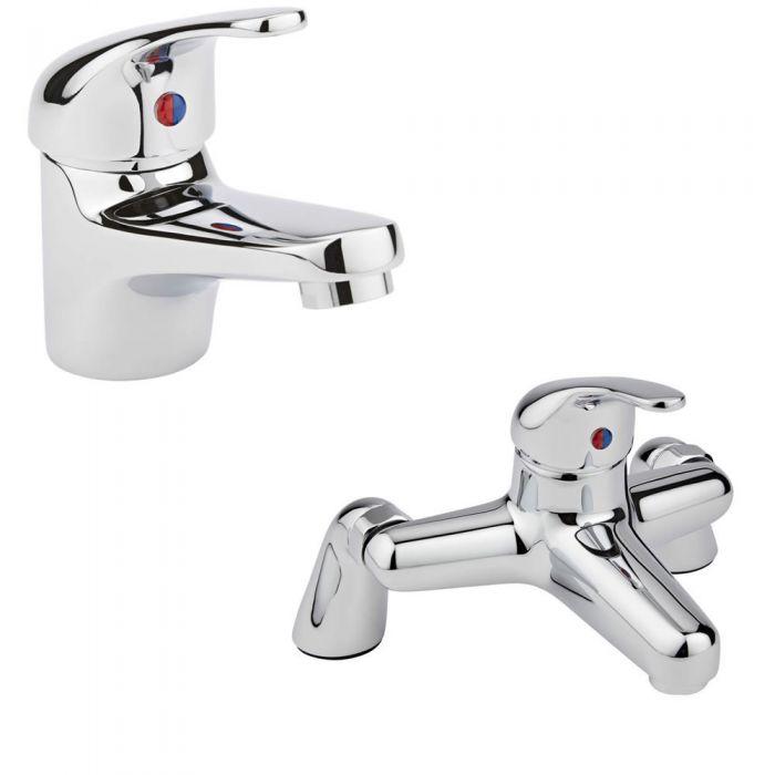 Milano Encore Basin & Bath Filler Tap Set