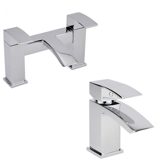 Milano Wick Basin & Bath Filler Tap Set
