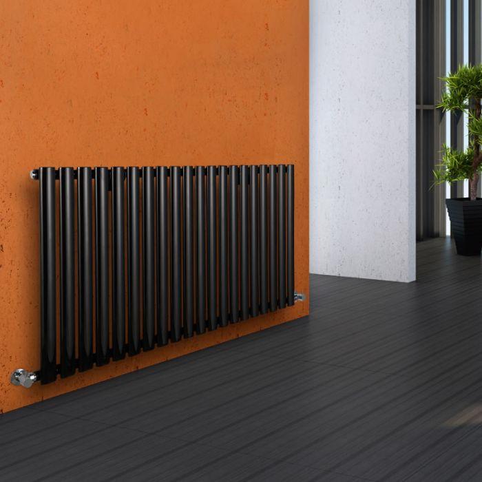 Milano Aruba - Black Horizontal Designer Radiator - 635mm x 1180mm