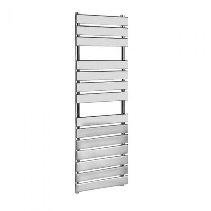 Kudox Signelle - Designer Flat Panel Chrome Plated Towel Radiator Rail - 1500mm x 500mm