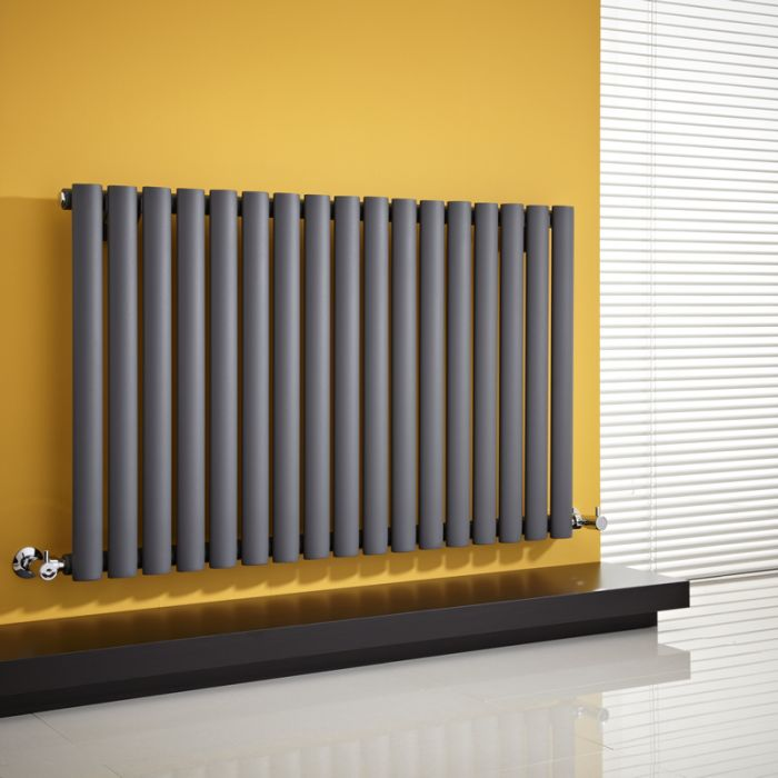Milano Aruba - Anthracite Horizontal Designer Radiator - 635mm x 1000mm