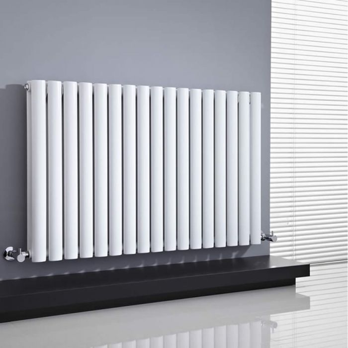 Milano Aruba - White Horizontal Designer Radiator 635mm x 1000mm (Double Panel)