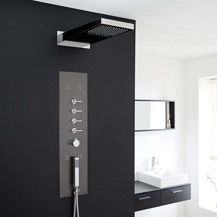 Milano Concealed Thermostatic Shower Tower