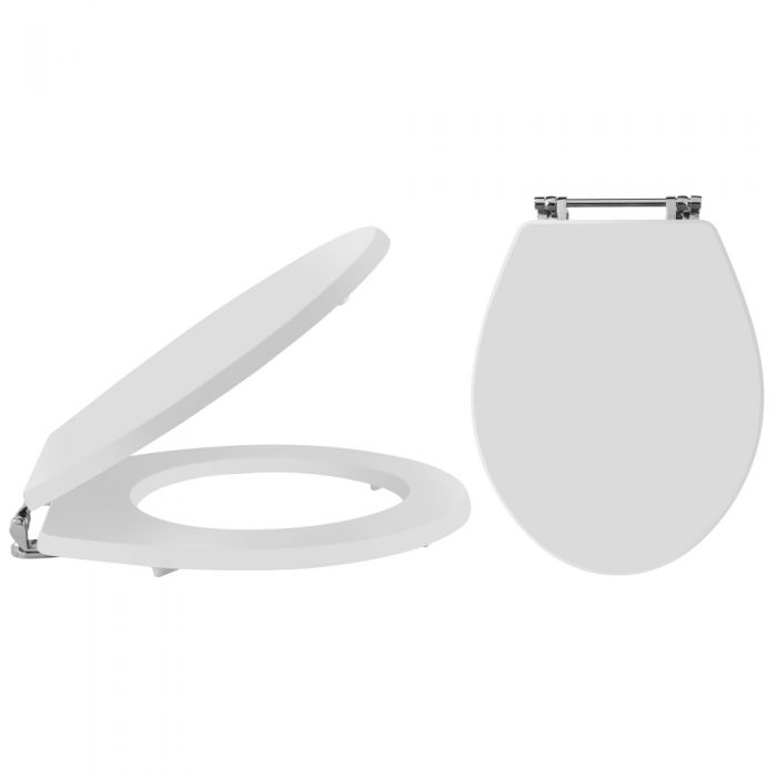 Milano Carlton - White Traditional Toilet Seat