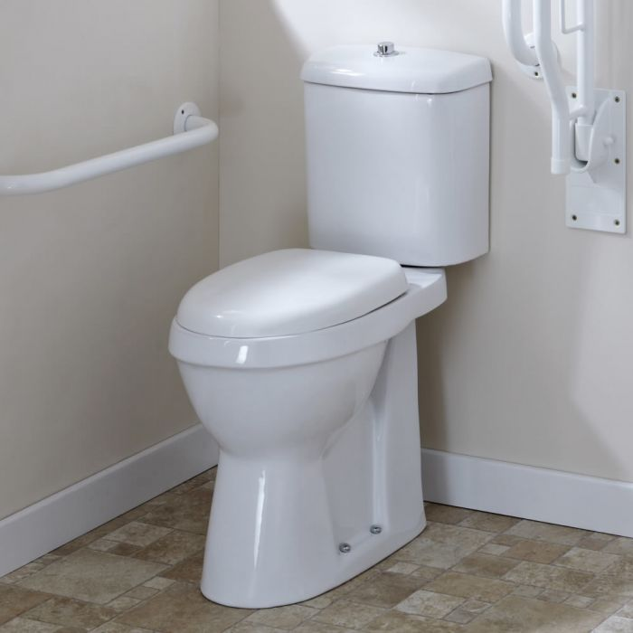 Milano Select - White Modern High Rise Disabled Doc M WC Toilet and Cistern