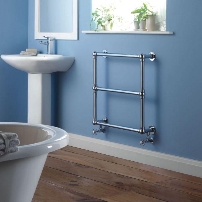 Milano Derwent - Traditional Brass Heated Bathroom Towel Radiator 685mm x 685mm