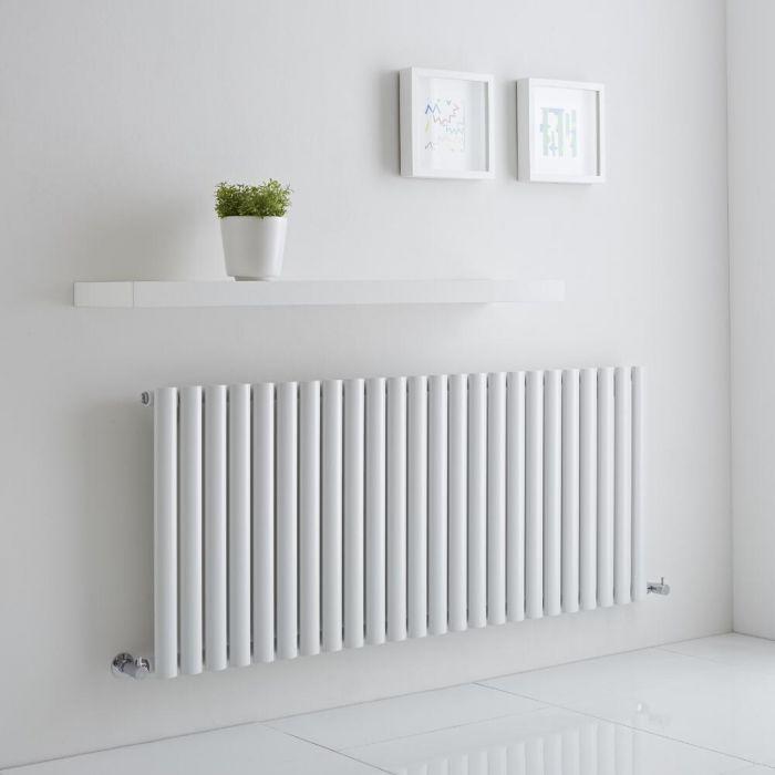 Milano Aruba Aiko - White Horizontal Designer Radiator 600mm x 1411mm (Single)