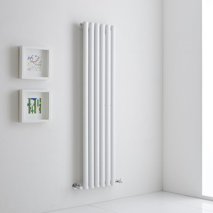 Milano Aruba Aiko - White Vertical Designer Radiator 1400mm x 354mm (Single)