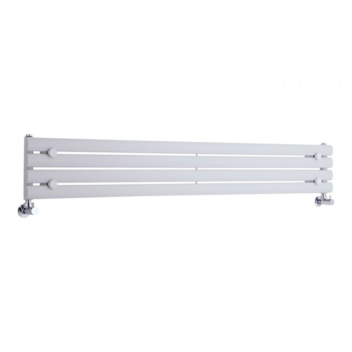 Milano Aruba Slim - White Space-Saving Horizontal Designer Radiator - 236mm x 1600mm