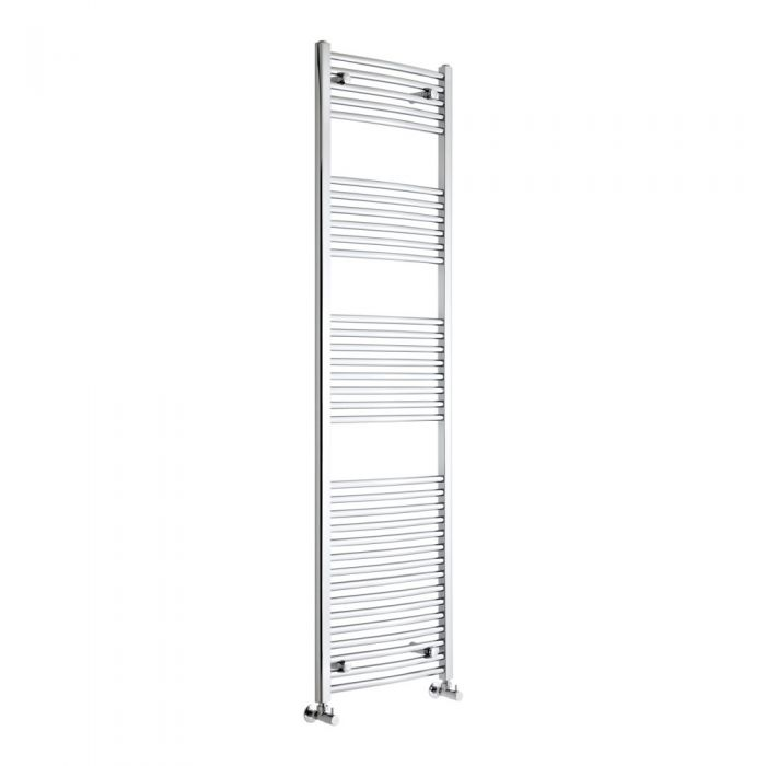Milano Curved Chrome Heated Towel Rail 1800mm x 500mm