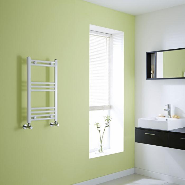 Milano Flat White Heated Towel Rail 700mm x 400mm