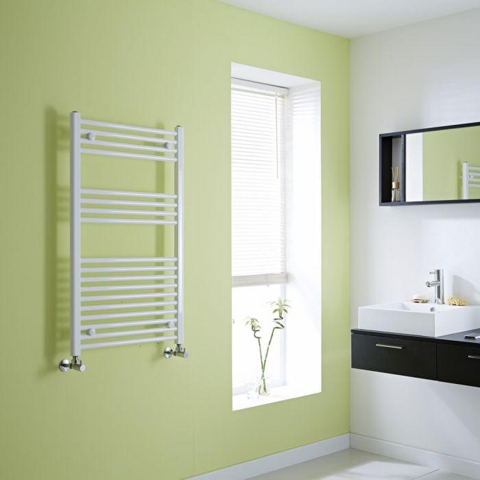 Milano Calder - White Flat Heated Towel Rail - 1000mm x 600mm