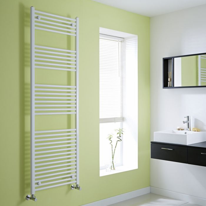 Milano Flat White Heated Towel Rail 1800mm x 600mm