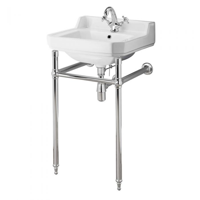 Old London Richmond - Traditional 1 Tap-Hole Basin and Washstand - 560mm