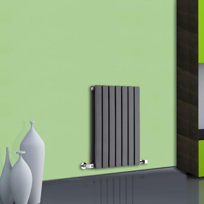 Milano Capri - Anthracite Flat Panel Horizontal Designer Radiator - 635mm x 420mm (Double Panel)