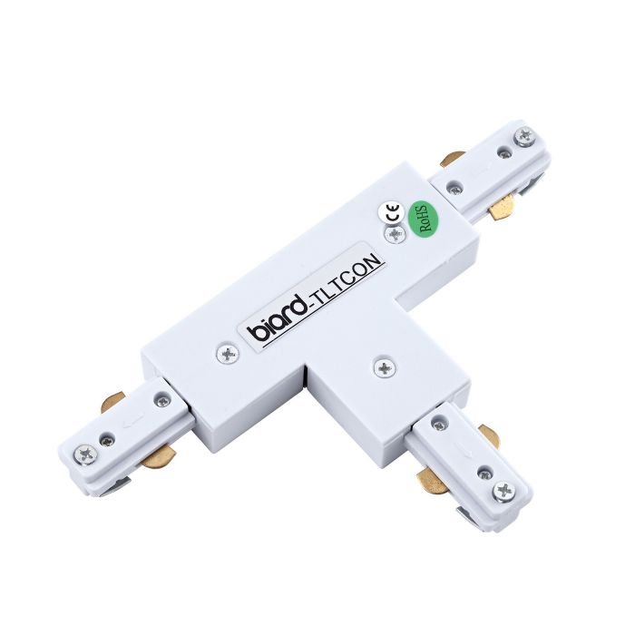 Biard T-Shaped Connector for Track Light - White