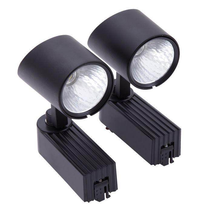 Biard LED 2 x 7W Track Light - Black