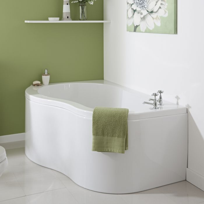 Milano Nuvo - 1500mm x 1000mm Corner Bath and Panel - Left Hand