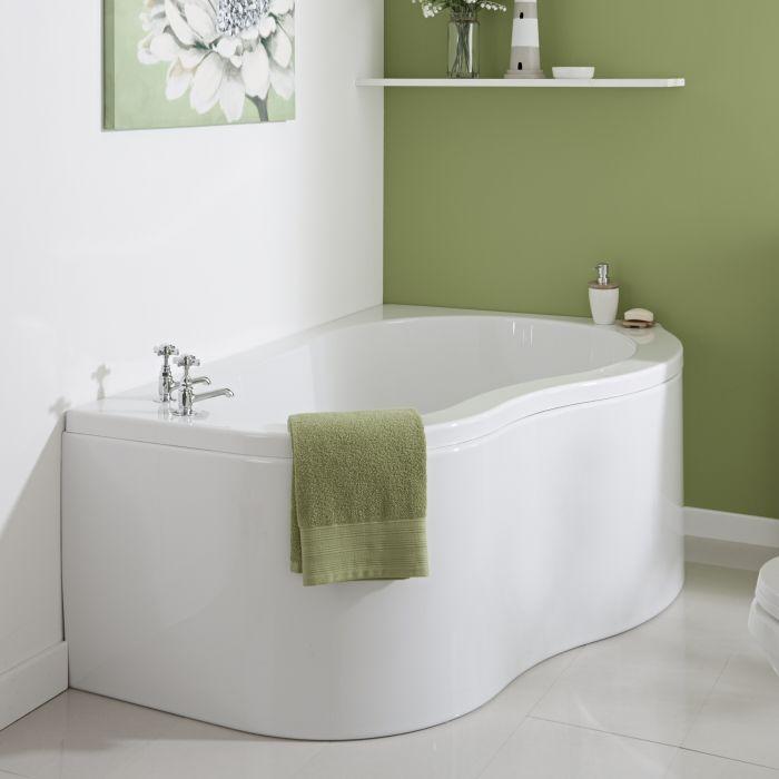 Milano Nuvo - 1500mm x 1000mm Corner Bath and Panel - Right Hand