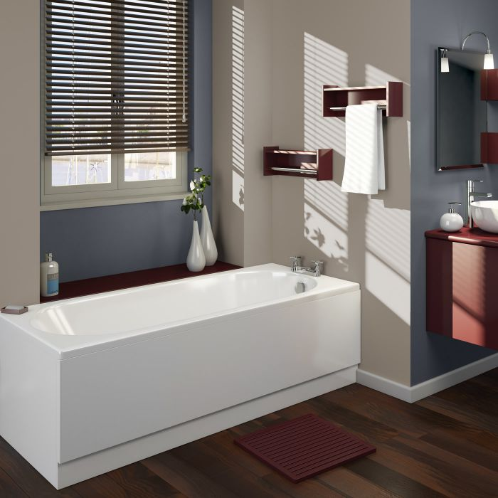Milano - 1600mm x 700mm Round Single Ended Standard Bath