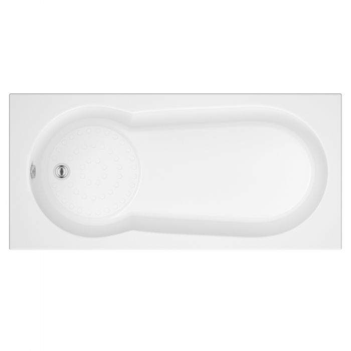 Milano - 1700 x 800mm Keyhole Anti Slip Bath
