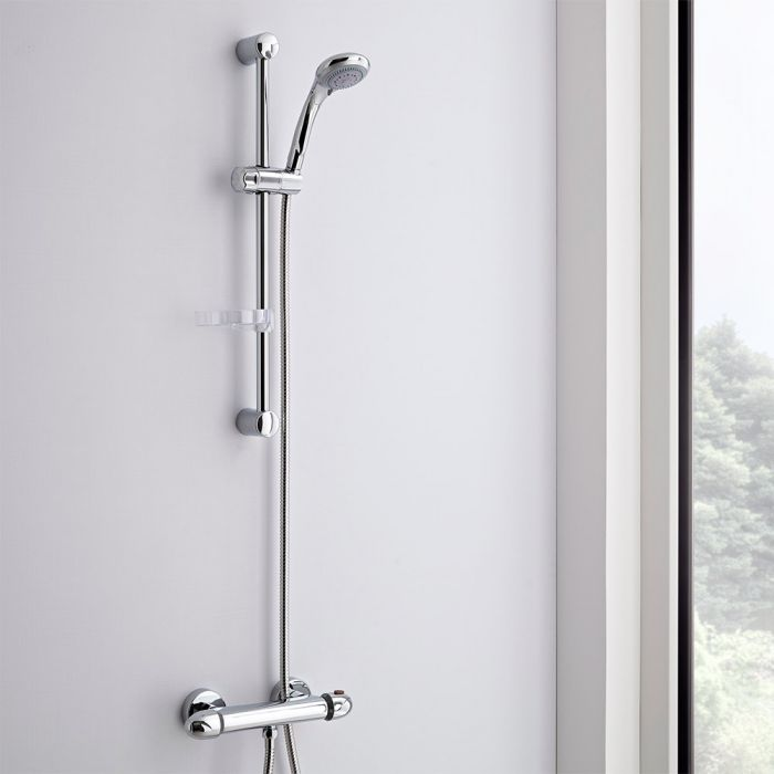 Milano Thermostatic Bar Mixer Shower Valve & Multifunction Kit
