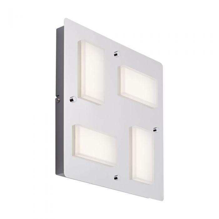 Biard Glacier Four LED Chrome Bathroom Wall/Ceiling Light