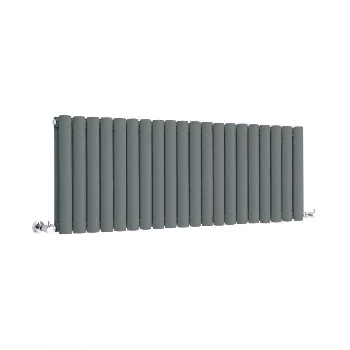 Milano Anthracite Horizontal Designer Radiator 400mm x 1180mm (Double Panel)