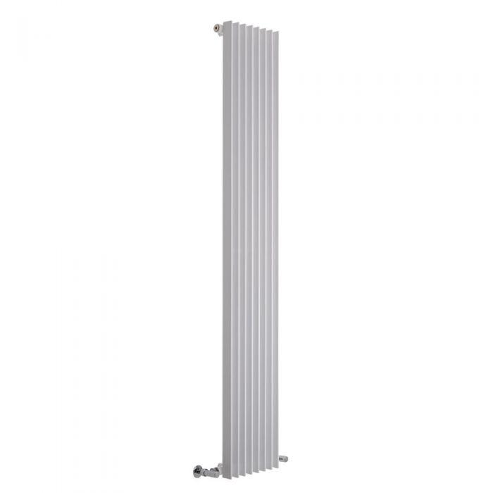 Lazzarini Way - Arezzo - White Vertical Designer Radiator - 1800 x 325mm