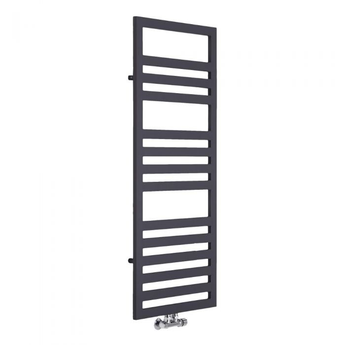 Lazzarini Way - Urbino - Anthracite Designer Heated Towel Rail - 1200 x 500mm
