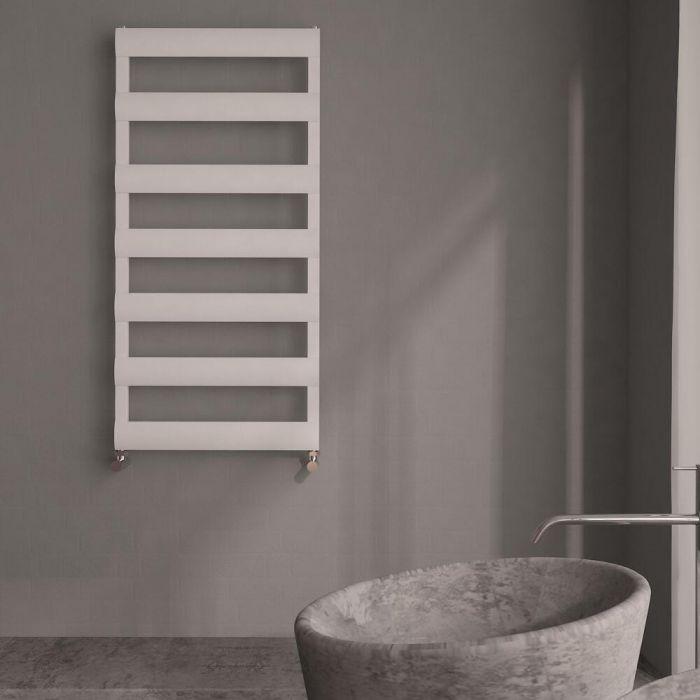 Milano Passo - Aluminium Designer Heated Towel Rail 1190 x 500mm White
