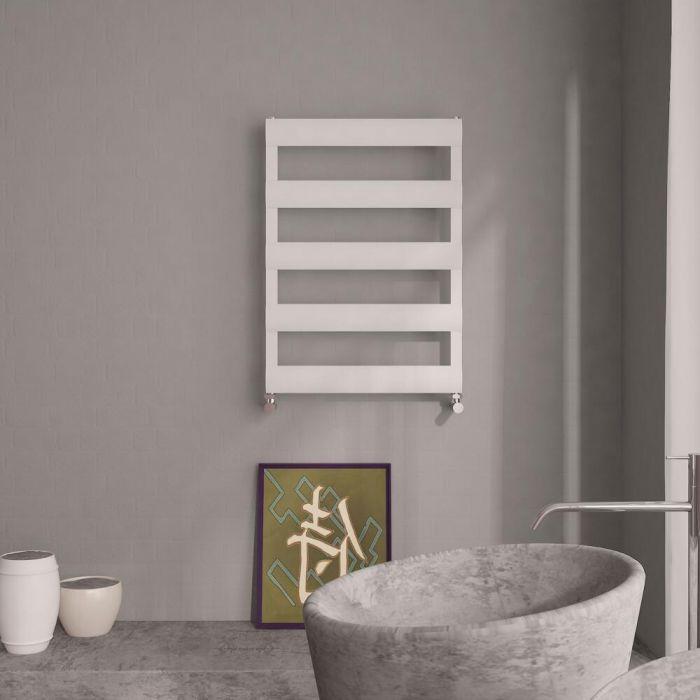 Milano Passo - Aluminium Designer Heated Towel Rail 790 x 500mm White