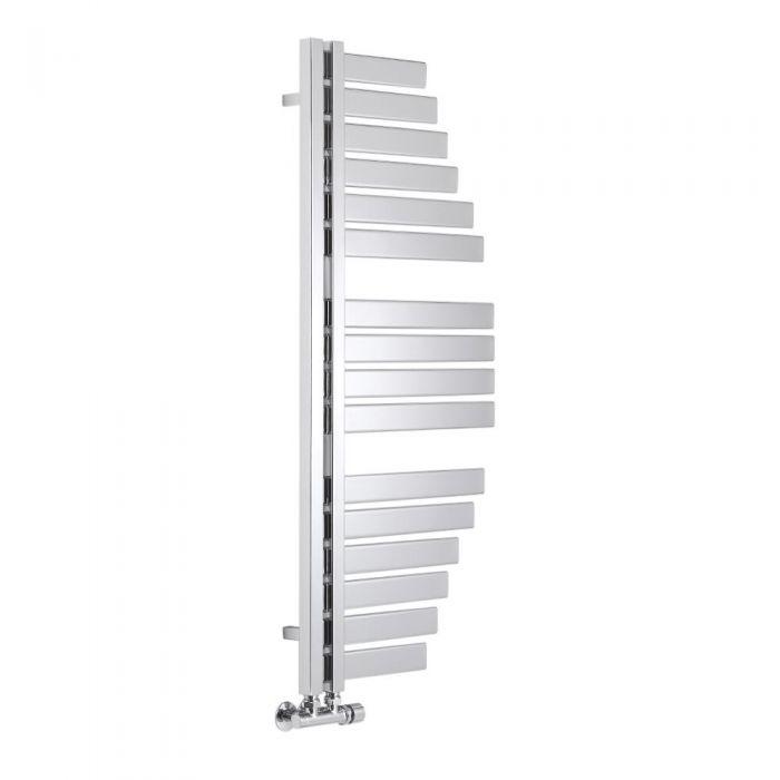 Lazzarini Way - Spinnaker - Chrome Designer Heated Towel Rail - 1100 x 483mm