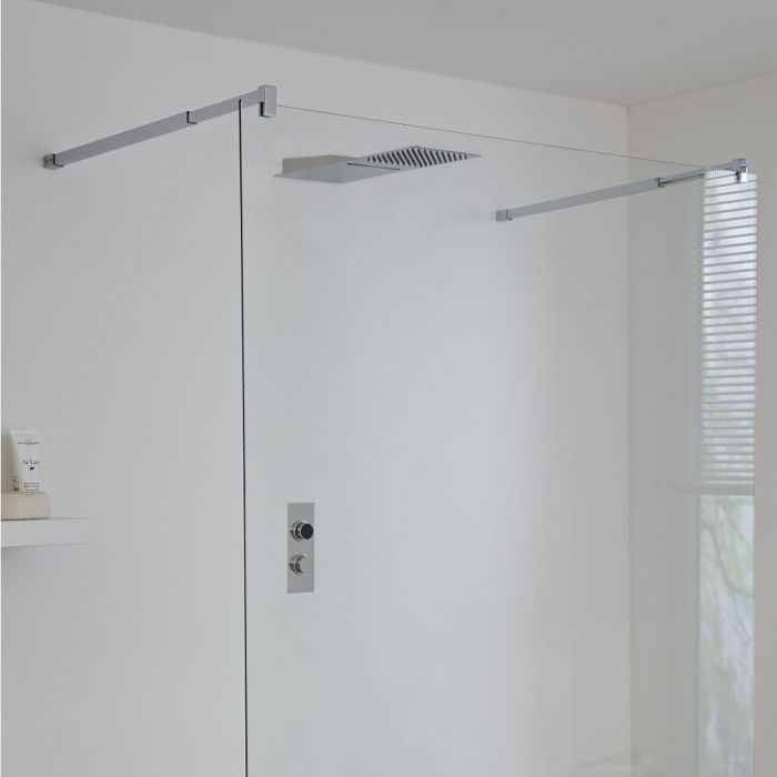 Milano Vis Two Outlet Digital Thermostatic Shower with Waterblade Shower Head