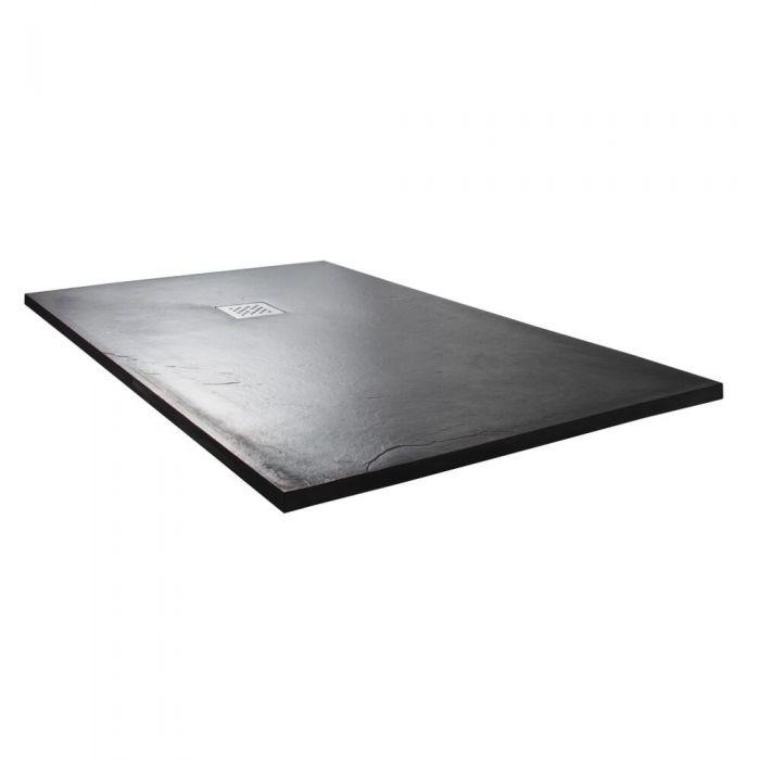 Milano Slate Effect Rectangular Shower Tray 1700x800mm
