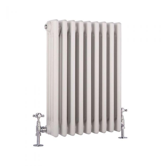 Milano Windsor - Traditional White 4 Column Radiator 600mm x 405mm (Horizontal)