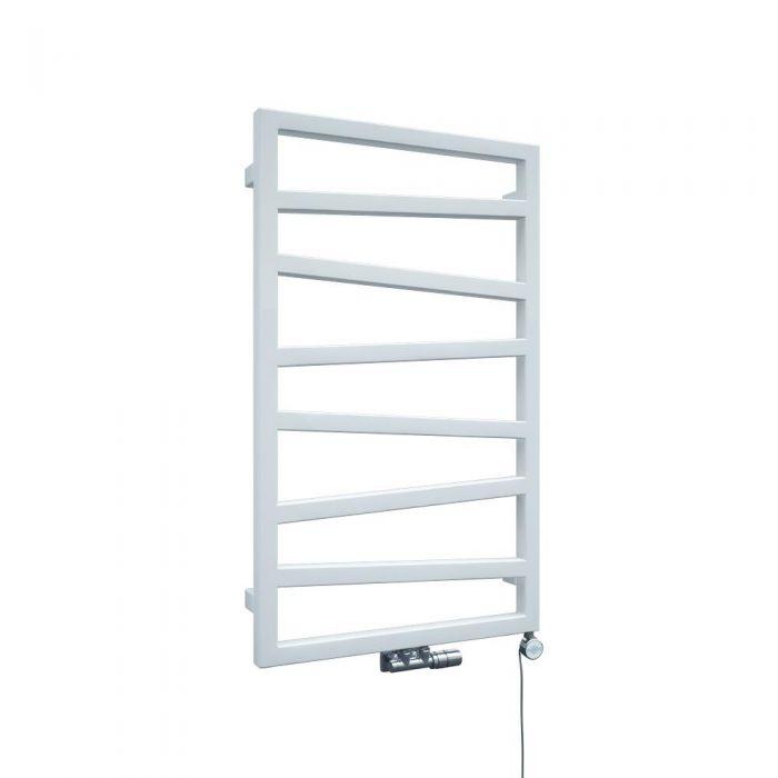 Terma ZigZag - White Vertical Heated Towel Rail 835mm x 500mm