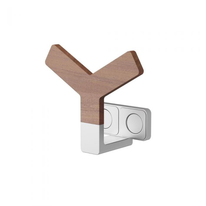 Y Wood Holder for Designer Radiators and Towel Warmers