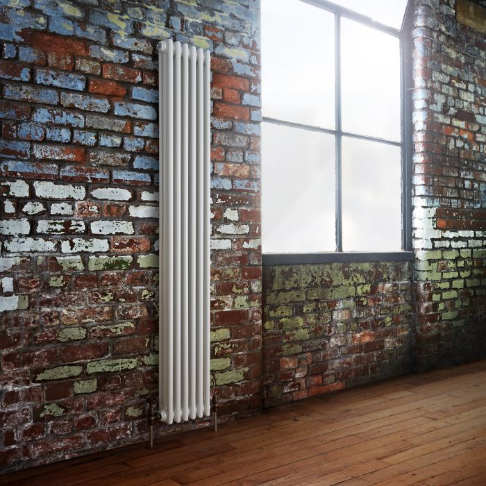 Milano Windsor - White Traditional Vertical Column Radiator - 1800mm x 293mm (Triple Column)