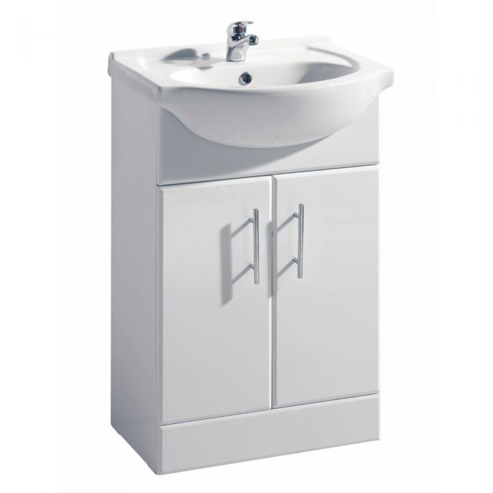 Premier 550mm x 300mm Vanity Unit Cabinet and Basin