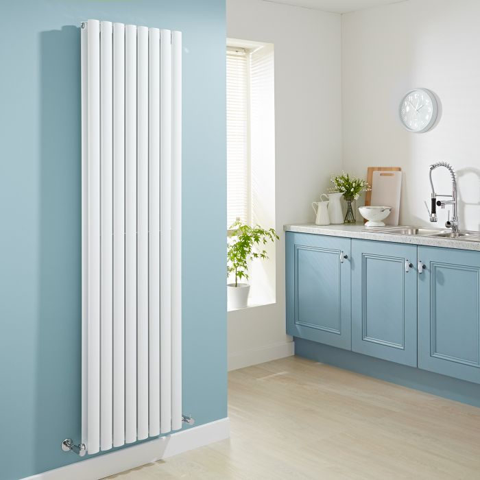 Milano Aruba - Luxury White Vertical Designer Double Radiator 1780mm x 472mm